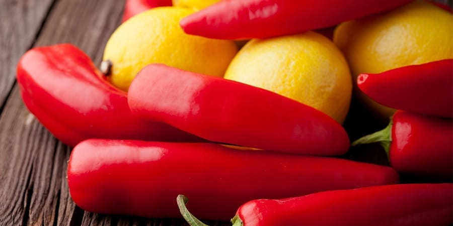 ingredients from a cayenne pepper lemon water recipe